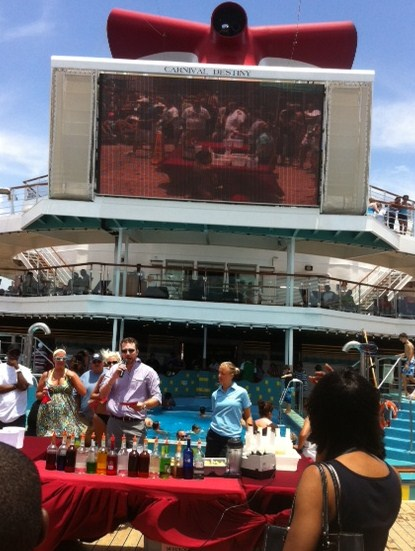 Drink-making contest on Carnival Destiny