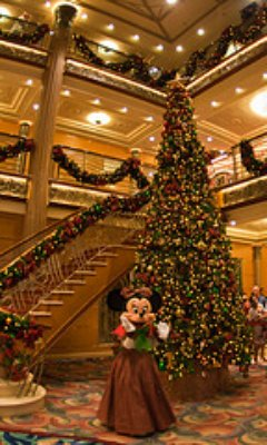 Decorated Mini Mouse on cruise ship