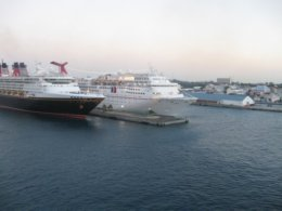 Ships docked in Nassau Pier