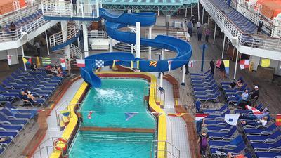 Pool Area On Carnival Elation