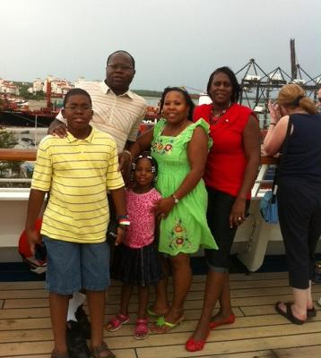With My Family on Carnival Destiny