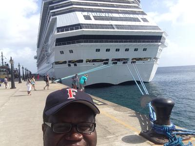 Selfie With Carnival Liberty In St. Kitts