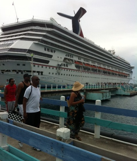Carnival Destiny docked in Ocho Rios