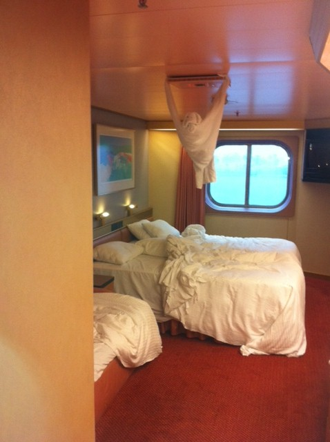 Ocean view cabin on Carnival ship