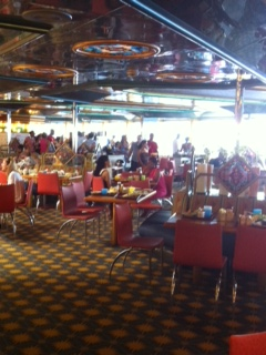 Sun and Sea Restaurant on Carnival Ship