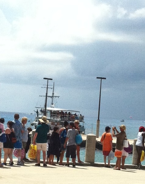 Waiting for Tender in Grand Cayman