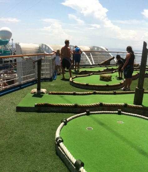 Mini Golf Course on Carnival Destiny