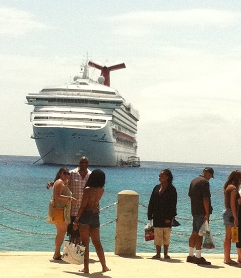 Carnival Destiny docked in Grand Cayman