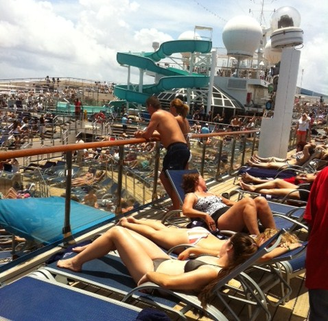 Carnival Destiny Cruise Pool