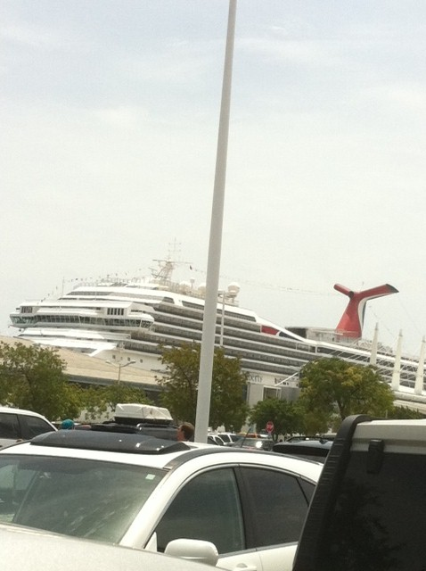 Carnival Destiny in Miami Port