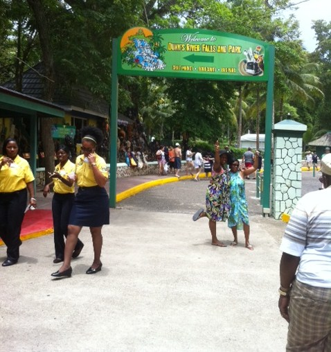 Arriving at Dunn's River Falls