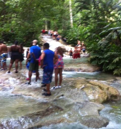 Following a Guide at Dunn's River Falls