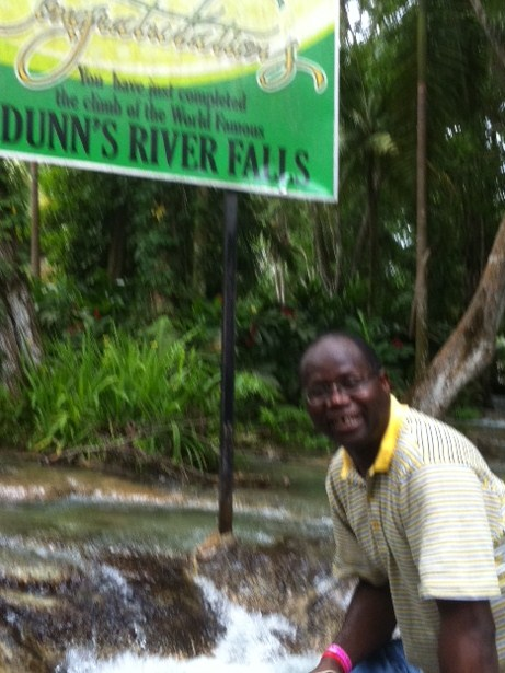 Reaching top at Dunn's River Falls