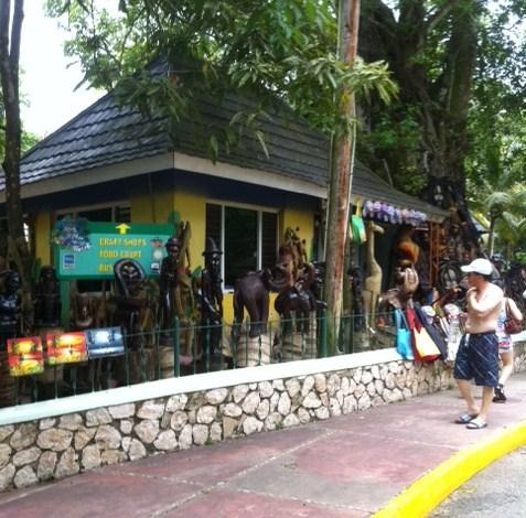 Vendors at Dunn's River Falls