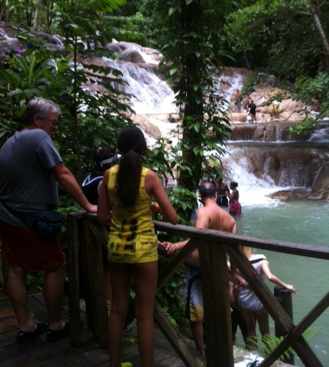 Some People Just Watch at Dunn's River Falls