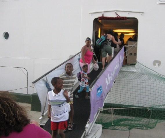 Boarding Norwegian Dawn in Nassau