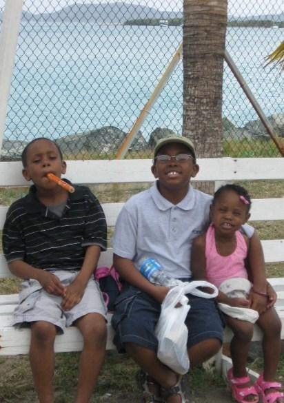 Kids in Tortola