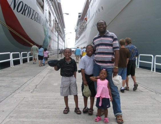 Getting off Norwegian Dawn in Tortola