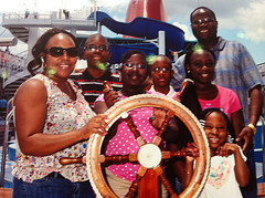 Family in Grand Cayman on Carnival Paradise