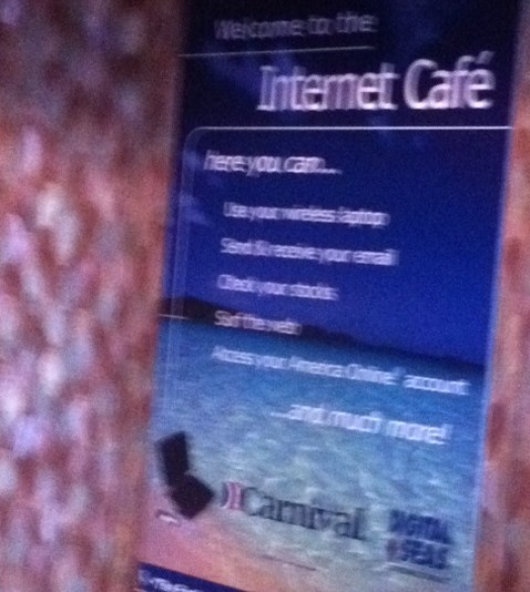 Internet Cafe on Cruise Ship
