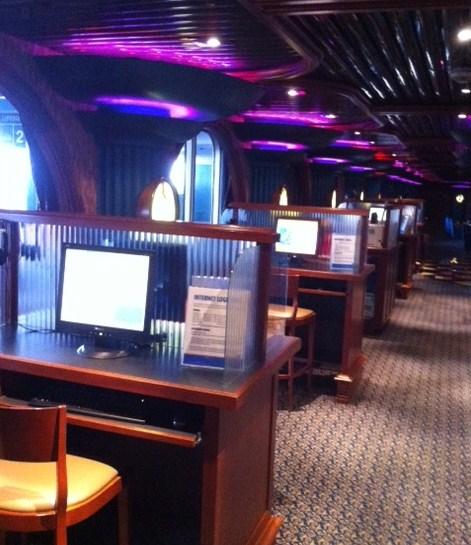 Internet Cafe on Cruise Ship