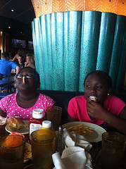 Enjoying Lunch on Carnival Paradise