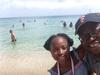 Daughter and I at Friars Beach