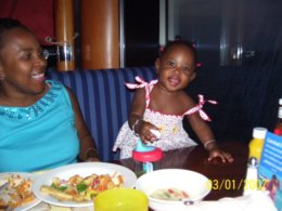Dinner on Lido Deck on Carnival Glory