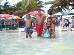 On Beach in Cozumel