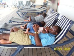 Napping on Carnival Glory