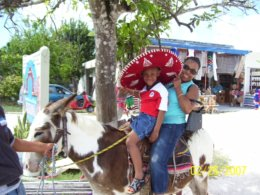 Riding Donkey in Costa Maya