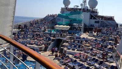 Main Pool Deck on Carnival Victory